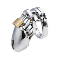 Wholesale padlock sex toy online - 40 for choose metal CB6000S male padlock chastity device BDSM bondage cock cage penis Lock sex toys Y1892003