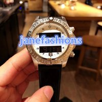 Wholesale electronic pointer resale online - High quality luxury men s brand watches natural waterproof sports watch electronic display pointer synchronization quartz chronograph watch