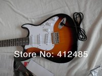 Wholesale solid body guitar making - Free shipping Wholesale price New Stratocaster ST 12 string sunburst Electric Guitar ! (made in usa )