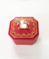 anel de mulher jóias de ouro venda por atacado-Marca de moda de aço de Titânio rosa anel de amor de ouro anel de amante de prata chave de fenda de casamento jóias presente de aniversário Para As Mulheres homens anéis