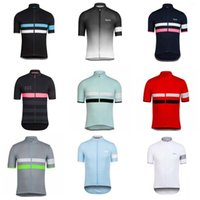 Wholesale men blouses - RAPHA team Cycling jersey Simple ventilation thin riding line mountain Road vehicle riding short sleeve blouse 840306