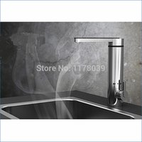 Wholesale electric tankless water heater tap - Stainless steel electric water heaters,tankless water heater tap,Leakage protection,deck mounted,Free Shipping J14316