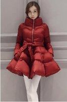 skirted daunenjacke frauen groihandel-2018 neue Ankunft warme Mantel Jacke Parkas für Frauen Winter Frauen und Parkas Bogen Taille flauschigen Rock A