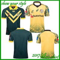 Wholesale hot australian - Hot sales Newest 2017 2018 NRL Jersey Australian Commemorative Edition 17 18 Australia rugby Jerseys t shirt s-3xl