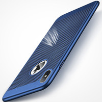 caso, iphone, furo, costas venda por atacado-Para samsung s9 s8 plus nota 8 ultra slim verão pc tampa traseira w / rede de refrigeração buraco para apple iphone x 8 7 6 6 s plus casos coque