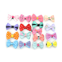 Wholesale mexican headbands resale online - Elecool Mini Hair Clips Bow Hairgrips Sweet Girls Solid Dot Stripe Printing Headbands Salon Hairpins Hair Styling Tool