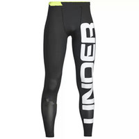 Wholesale mens compression leggings - Mens Pro Sports Outdoor Running Leggings Pants Basketball Jogging Compression Base Layer Skin Tights Quick-dry Pant Cycling Fitness Trousers