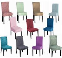 Cubierta de la silla Spandex Funda de cocina Extraíble Anti-sucio Cubierta  de asiento para banquete Cena de boda Restaurante Multi colores