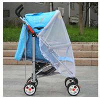 net baby cots venda por atacado-Atacado Mosquito Baby Dome Malha Do Carro Do Bebê carrinhos de Renda Mosquiteiro Cortina Net para Berço Da Criança Berço Canopy Para Trolley