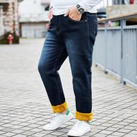 352151c1c78 2018 New Biker Jeans Men High Stretch Denim Jeans With Elastic Waist Slim Jean  Men s Scratched Pants Trousers Plus Size 28-46 48