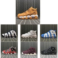 Wholesale Air More Uptempo QS Olympic Bulls Tri Color UNC Black Mens Women Basketball Shoes Cheap Airs M Scottie Casual Sneakers