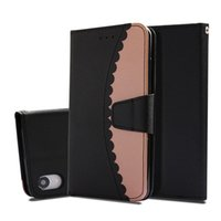 Wholesale flip cell phones for sale - Crash Splicing Wallet Cases For iPhone XR XS Max Plus Cell Phone Kickstand PU Flip Cover Case with Card Pocket
