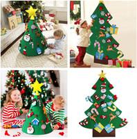 bebek yılbaşı dekorasyonları toptan satış-Noel Bebek Oyuncakları 3D DIY Keçe Toddler Noel Ağaçları Oyuncaklar Yeni Yıl Çocuk Hediyeler Oyuncaklar Yapay Ağacı Noel Ev Dekorasyon Asılı Süsler