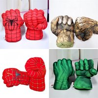 Wholesale develop board - Boxing Glove Children Spider Green Plush Sports Toy Giant Fist New Year Spring Festival Gift Kid Hot Sale 14 5ye V