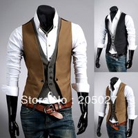 Wholesale Dropship Factory - Fashion slim high quality blazer vest men from factory wholesale 2 pieces a lot dropship