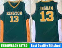 Wholesale brandon shirts - HOT KING STONE HIGH SCHOOL 13 Brandon Ingram Stitched embroidery jerseys Jersey SHIRTS cheap sport basketball retro THROWBACK sale