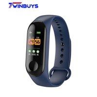 браслет usb браслеты браслет оптовых-Twinbuys м3 0.96 смарт-браслет монитор сердечного ритма кровяного давления кислорода в крови фитнес-трекер смарт браслет с USB зарядка