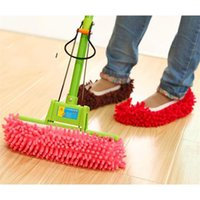 Wholesale Cleaning Slippers - Multi Functional Chenille Lazy Shoes Cover House Cleaner Floor Mopping Dust Slippers Dusting Cleaning Foot Shoe Tools 1 75zm Y