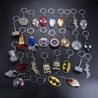 Wholesale metal man toy for sale - Group buy Marvel Universe The Avengers Series Keychain Infinite War Fashion Superhero Key Chains For Women Men Jewelry Key Holder Trinkets kids toys