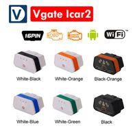 vgate icar wifi elm327 al por mayor-El más nuevo Vgate icar 2 wifi proffesional herramienta de diagnóstico del coche olmo 327 OBDII OBD2 escáner Vgate iCar2 WIFI ELM327 para Android / IOS / PC