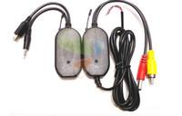 2.4ghz kablosuz verici toptan satış-Araç Dikiz Monitör FM Verici Alıcı için 2.4Ghz Kablosuz Geri Görüş Kamerası RCA Video Verici Alıcı Seti