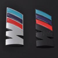 tampas de plástico venda por atacado-Logotipo do carro BMW Etiqueta Auto Emblema Emblema Do Emblema Do Decalque Para BMW M M3 M5 E46 E30 E34 X1 X3 X5 X6 Desempenho