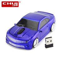 Wholesale Mouse Boys - Racing Wireless Car Mouse 2.4GHz 3D Optical Wireless Mouse Computer Mice 1600DPI Sport Car Shape Gaming Mause for Boy Gift