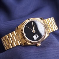 Wholesale Full Dates - Luxury Brand Gold President Day Date Watch Men Stainless Mother of Pearl Dial Diamond Bezel Automatic WristWatch AAA Watches Full Logo