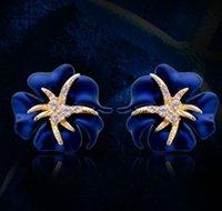 geschenke starfish-liebhaber großhandel-Neue Ankunft Frauen Modeschmuck Starfish Nacht Ohrstecker Party Liebhaber Weihnachtsgeschenk