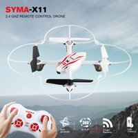 Wholesale black mini helicopter for sale - Group buy Syma X11 Mini Drone with G CH Axis Gyro RC Quadcopter LED Light D Flap RC Helicopter Toy Drone without camera Kids Gifts