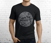 Wholesale Funny Band Shirts - New Popular The Arctic Monkeys British Rock Band Men's Black T-Shirt Size S-3XL Quality Print New Summer Style Cotton Top Tee Funny
