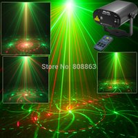 Wholesale laser light show system - New version 16 Patterns Remote G&R Laser projector Stage lighting Disco Holiday Dance Shop Xmas Party DJ Light Show system c16