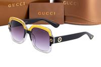 ingrosso grandi occhiali quadrati-Luxury new italy brand 0086 bee sunglasses con logo fashion show style grandi occhiali da sole quadrati da donna classici occhiali da guida all'ombra