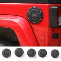 Wholesale car tank cover - Car Fuel tank cover Gas Cap Fit For Jeep Wrangler From 2007 To 2016 Auto Exterior Accessories ABS Metal