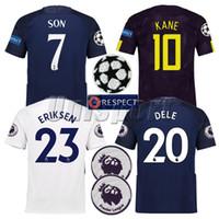 Wholesale Cotton Kit - 2017 18 Home Away Third Soccer Jerseys Son Kane Dele Eriksen Spurs Futbol Camisa Football Camisetas Shirt Kit Maillot Tops