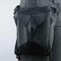 Wholesale handbag gothic resale online - Rock Leather Vintage Unisex Gothic Steampunk Handbag Waist Pack Punk Style Leg Bag Christmas Gift Free DHL G217S