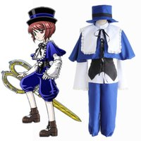 rozen maiden cosplay venda por atacado-Cosplay Halloween Anime Rozen Maiden Souseiseki Lapislazuli Stern Azul Cosplay Suit pano com chapéu Mulheres Party For