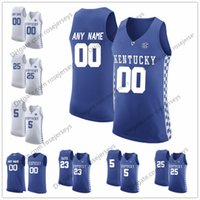 Wholesale kentucky jersey - Custom Kentucky Wildcats College Basketball royal blue white Stitched Any Name Number #5 Kevin Knox 25 PJ Washington 14 HERRO Jerseys S-3XL