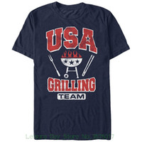 Wholesale team usa clothing online - T shirts Brand Clothes Slim Fit Printing Lost Gods Usa Grilling Team Mens Graphic T Shirt