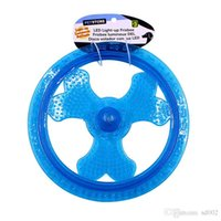 Wholesale frisbee disk resale online - TPR Small Frisbee Dog Toy Flying Disk Shape Puppy Training Throwing Toys Easy Carry Blue Pink hz Z R