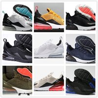 Wholesale soft shock shoes for sale - 270 Shoe men Running Shoes women Outdoor Run Shoes Trainer Black White Sport Shock Air Cushion Sneakers requin Olive Silver In Metalli