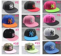 Wholesale ny wholesalers - Hot Sale Hip-Hop Hat Men and Women Ball Caps NY Snapbacks Baseball Caps Snapbacks Hats Adjustable Cap Free Shipping