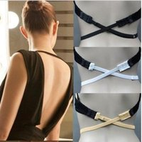 Wholesale multi converter - Hot Fashion Back Backless Bra Strap Adapter Converter Fully Adjustable Extender Hook Women's Fashion Bra Strap Adapter