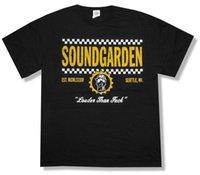 verificador de marca al por mayor-Soundgarden Checkers Spring Tour 2013 camiseta negra Nueva marca de moda para hombre de Louder para adultos oficial 2018