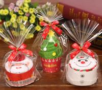 новые рождественские полотенца оптовых-Рождественский подарок кекс хлопок полотенце Natal Noel новогодние украшения рождественские украшения для дома дети дети 30x30cm