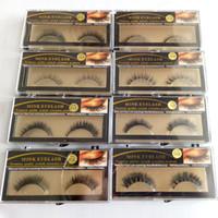 Wholesale real mink fur lashes - 15 Styles 1 Pair Premium Quality False Eyelashes Handmade Real Mink Hair Fur Eyelash Soft Fake Eye Lash Extension Full Strip Lashes Q1