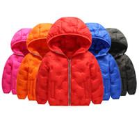 Wholesale boys hoodies for sale - Kids Down Hoodies Coats Cotton Lighter Zipper New Pressing Technology Long Sleeve Toddler Baby Boys Girls Designer Winter Jacket Snow Coat