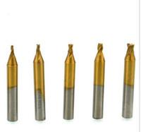 dikey parçalar toptan satış-HSS Titanized End Mill Freze Anahtar Kesici Dikey Anahtar Makine Parçaları Için Çilingir Araçları
