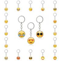 cara de animal adorable al por mayor-Moda encantadora Emoji Smiley cara tiempo piedras preciosas colgante de cristal de metal divertido llavero de la joyería para mujeres hombres regalo G40L