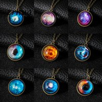 Wholesale starry sky necklace for sale - Group buy ZRHUA Glowing in the Dark Round Starry Sky Pendant Necklace For Women Jewelry Retro Necklace Vintage Metal Long Chain Bijoux